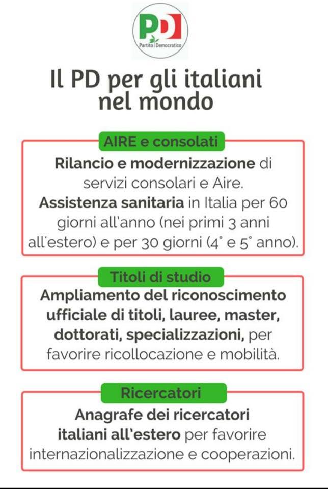 Programma del Partito Democratico per gli Italiani nel Mondo